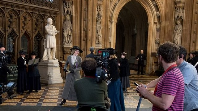 'Suffragette' filming in the Houses of Parliament