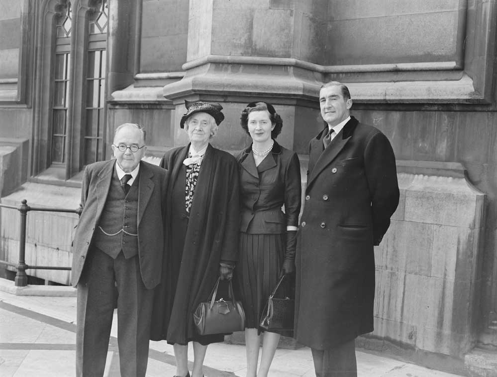 Patricia Ford photographed on the day she took her seat in Parliament, 20 April 1953.
