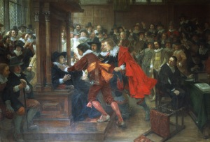 House of Commons 1628-9 Speaker Finch held by Holles and Valentine