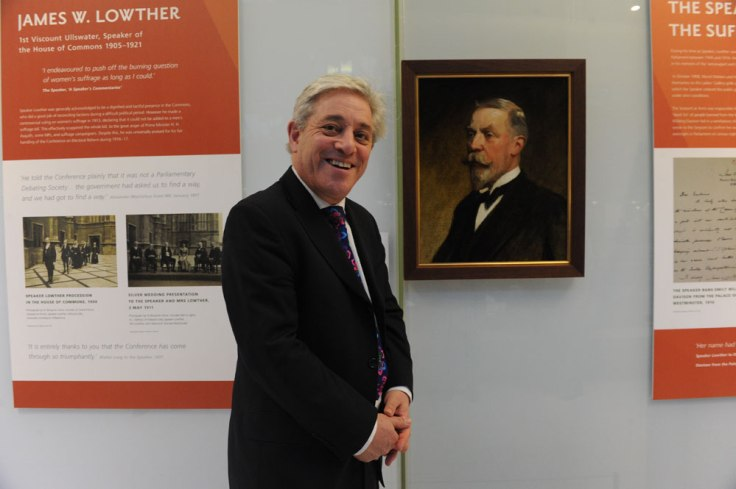 The Speaker, John Bercow, with a portrait of Speaker Lowther. © UK Parliament/Jessica Taylor
