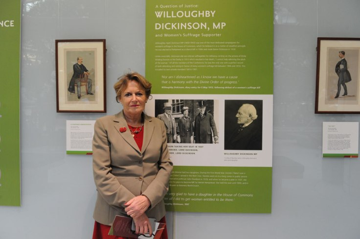 Baroness Jenkin, great-granddaughter of Willoughby Dickinson MP. © UK Parliament/Jessica Taylor