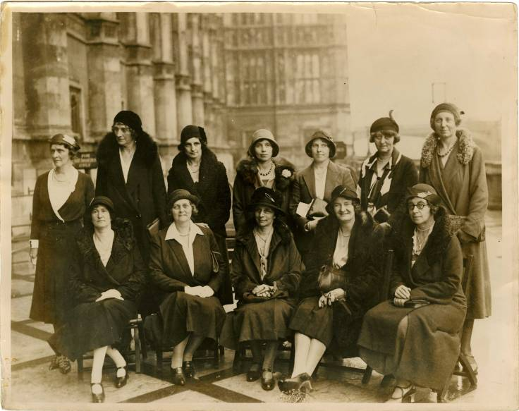 Conservative women MPs on the terrace of the House of Commons, 1931. Parliamentary Archives, HL/PO/RO/1/188.