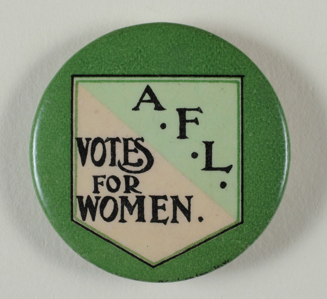 Actresses' Franchise League badge. Courtesy of LSE Library