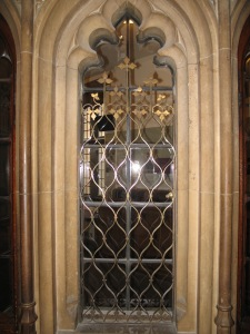 A grille in Central Lobby, Courtesy of the Parliamentary Estates Directorate