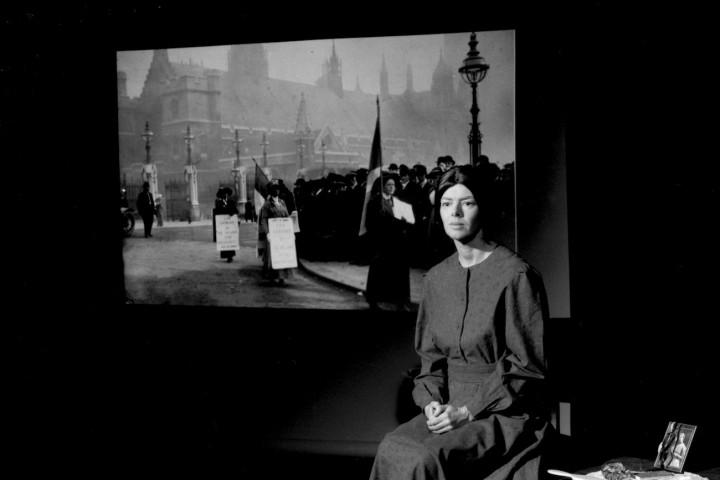 Jacqueline Mulhallen as Sylvia Pankhurst. Photo © William Alderson