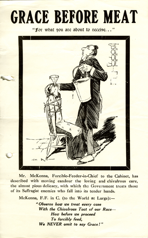Grace Before Meat leaflet. Parliamentary Archives, HC/SA/SJ/10/12/46