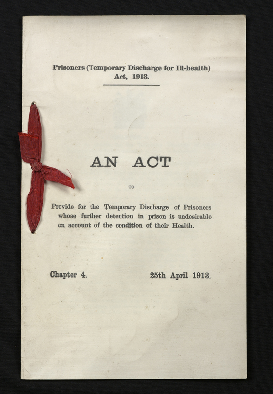 Prisoners (Temporary Discharge for Ill-Health) Act 1913. Parliamentary Archives, HL/PO/PU/1/1913/3&4G5c4
