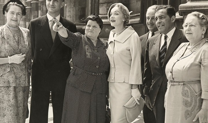 Bessie Braddock MP with Marlene Dietrich, Parliamentary Archives, PUD/14/100