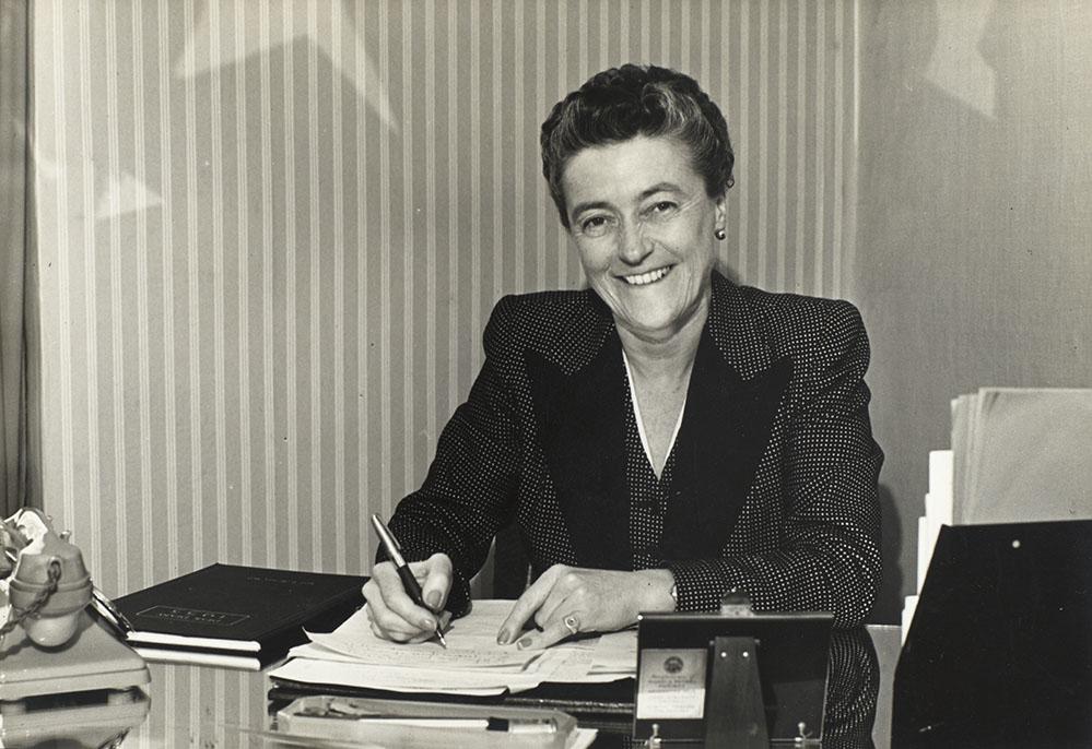 Elaine Burton. Parliamentary Archives, PUD/14/35