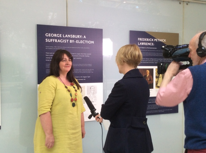 Dr Claire Eustance interviewed by BBC Parliament