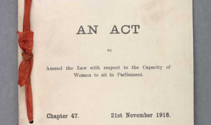 1918 Parliament Qualification of Women Act