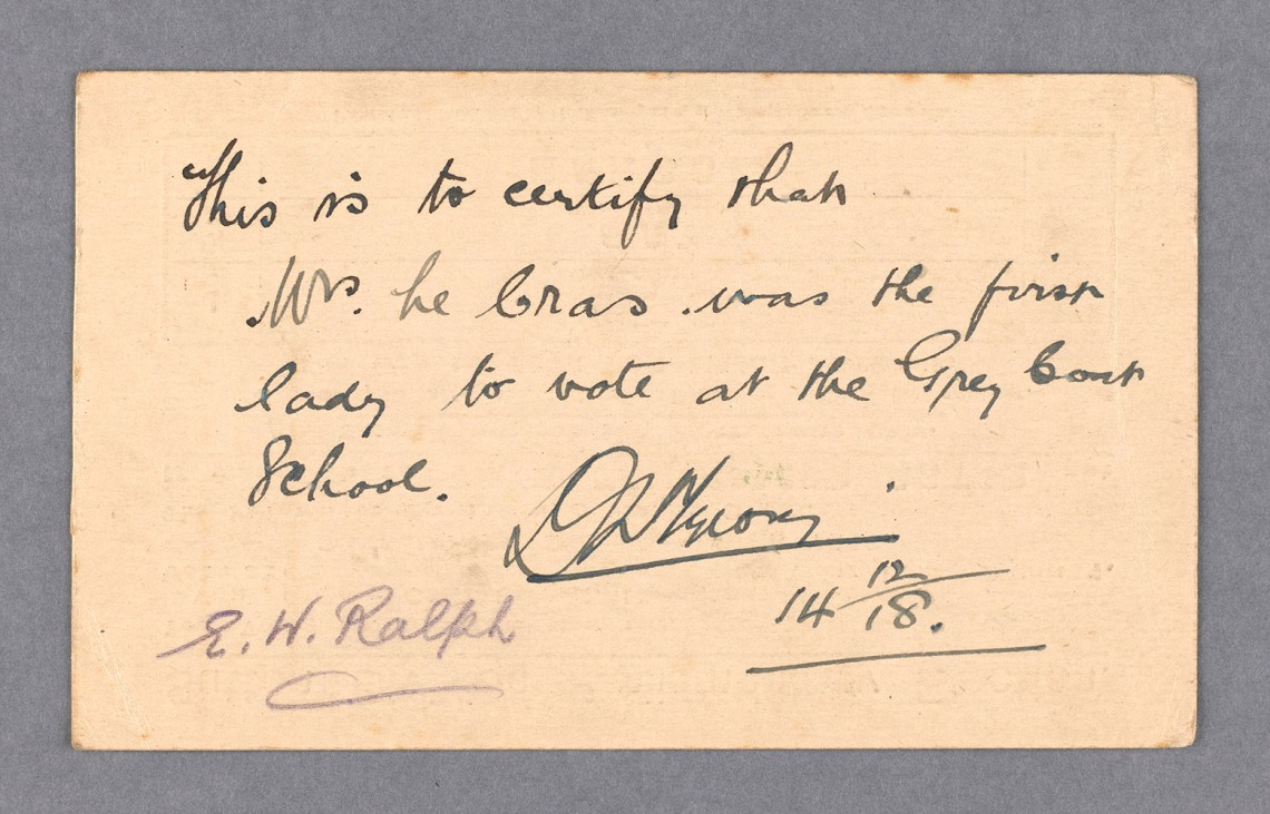 Parliamentary Archives, LCR/2/1 reverse