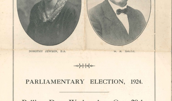 Dorothy Jewson: election address October 1924