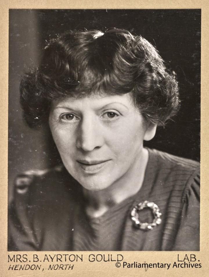 Mrs B Ayrton Gould, Hendon, North. July 1945. © Parliamentary Archives, PHO/9/1/30/3