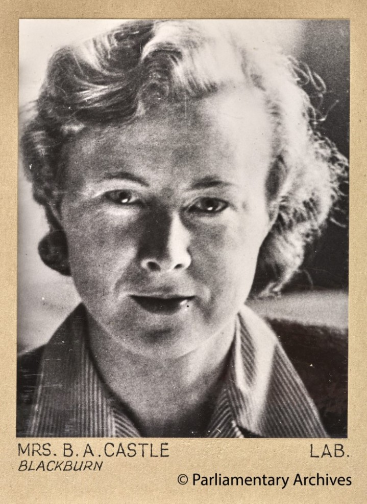 Mrs B A Castle, Blackburn. July 1945. © Parliamentary Archives, PHO/9/1/13/1