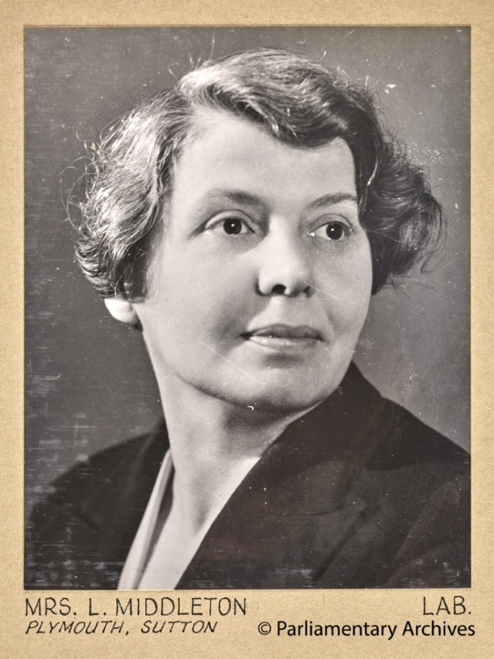 Mrs L Middleton, Plymouth, Sutton. July 1945. © Parliamentary Archives, PHO/9/1/53/1