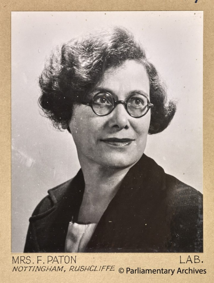 Mrs F Paton, Nottingham, Rushcliffe. July 1945. © Parliamentary Archives, PHO/9/1/59/2