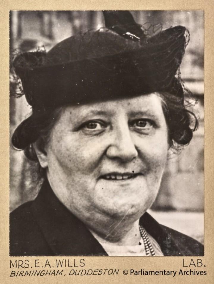 Mrs E A Wills, Birmingham, Duddeston. July 1945. © Parliamentary Archives, PHO/9/1/85/4