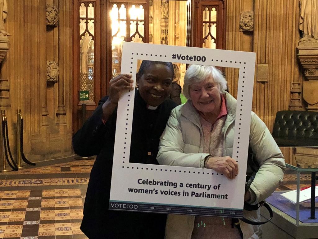 Rose Hudson-Wilkin (Speaker's Chaplain) and Shirley Williams